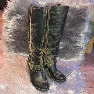 "Nicole ""Daniel"" Moto Cowboy Boots"